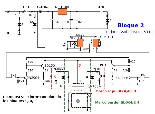 Circuito Ups : Cómo construir un convertidor de vdc a vac