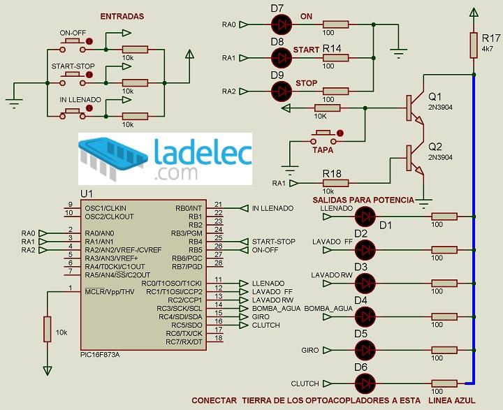 Circuito Optoacoplador : Tarjeta y o controlador universal de lavadoras