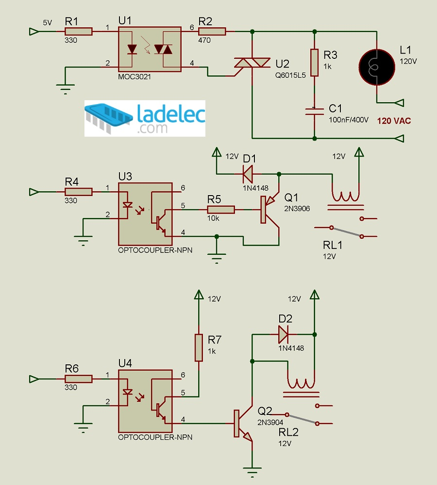 Circuito Optoacoplador : Interfaces con optoacopladores