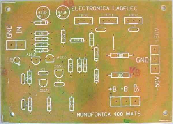 Circuito Impreso De Amplificador De 3000w : Amplificador de w stereo
